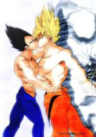 vegeta x goku by SSJ-Princess-Bijou