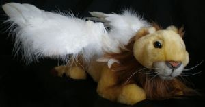 Winged lion plush toy by donnaquinn
