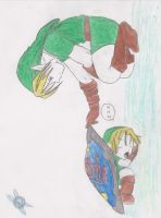 Link and little Link by Hevansflame