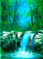 Waterfall (acrylic) by Boias
