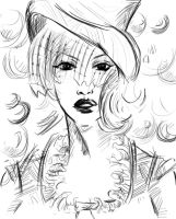 Gwen as the Mad Hatter by you-were