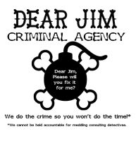 Dear Jim: T-Shirt by Murderer-In-Training