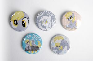 Derpy Hooves Buttons by pookat