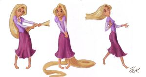 Rapunzel Sketchy Poses by artist2point5