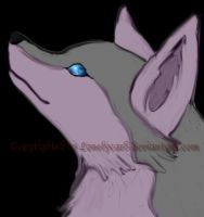Wolfhead colored by lonelycard