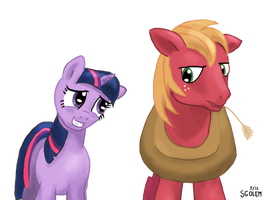 Twilight and Big Macintosh by sgolem
