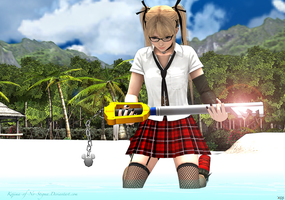 Marie Rose holds her new Weapon by Kojima-of-No-Stigma