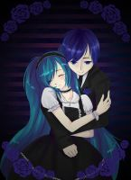Miku and Kaito: Blue Rose by nuxi-chan