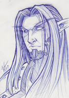 Sketch: Night Elf by WesTalbott