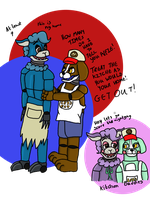 FNaF oc gift If you make a mess in the kitchen by hammyhammy22