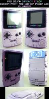 Custom Painted Gameboy Purple by Thretris