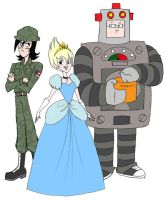 SBT-Princess Soldier and Robot by queenbean3