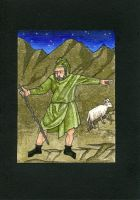 Christmas Card 4 - A Solitary Shepherd by Bombadyl
