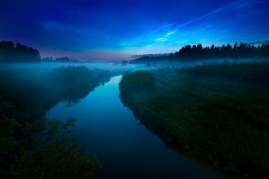 Mist And Noctilucent Clouds - by MikkoLagerstedt
