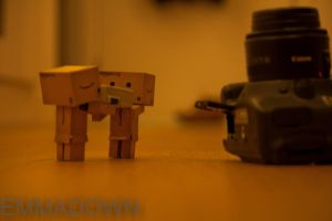 'Let's get the battery!' - Danbo Series by oEmmanuele