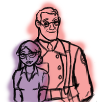 A Little Rough Sketch of Medic and Pauling by InkRose98