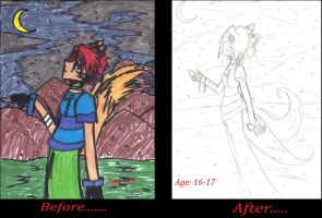 Before and After by BlueRoseFox
