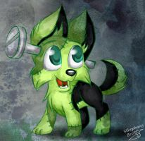 Frankenstein 's dog by sthephanymel