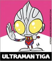 Ultraman Tiga Sticker by PacoAfroMonkey