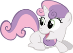 Request: Ecstatic Sweetie Belle by Pangbot