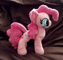 mini PinkiePie plush by CatyCrippledCat