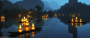 Fishing Lanterns© by Massi-San