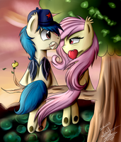 In the apple tree by Scarlett-Letter