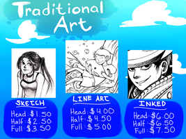 TRADITIONAL ART COMMISSIONS by SHADOWxxxMIMZ