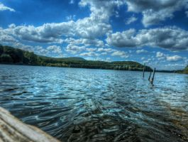 Artificial Lake No1 HDR by Risen-From-The-Ruins