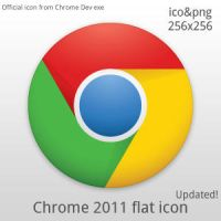 Chrome 2011 flat icon UPDATED by G-rawl