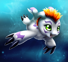 Gomamon by AylaStarDragon