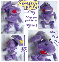 Genesect Plush by SilkenCat