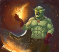 WoW Orc Shaman by geors