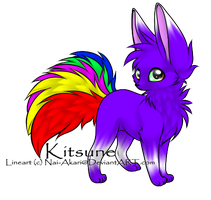 Rainbow Fox by HaaraUchiha