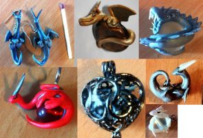 Jewerly dragons by HandmadeDragons