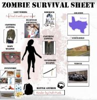 Zombie Survival Sheet by Lovekeysan