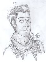 Nathan Drake Bust (sketch) by InvaderSonicMx
