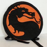 Handmade Mortal Kombat MK Dragon Symbol Backpack by RbitencourtUSA