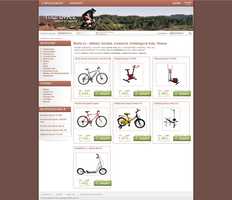 Bike e-shop webdesign by aevel