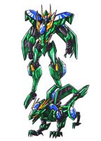 Omega dragon zord by kishiaku
