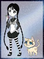 Sailor Addams + Luna Lovegood by chaoticteapot