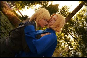 Hetalia France and England - Sunset by SharyNyanko