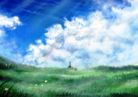 Rainbow and Horizon by walad-43