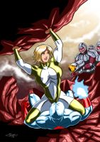 Power Girl and Captain Atom - Khunds! by adamantis