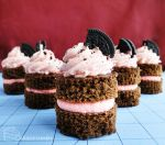 Strawberry Cookies and Cream Cakes by cakecrumbs