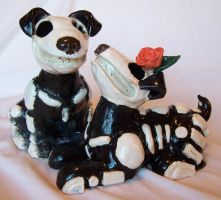 Dia De Los Muertos Dog Couple by Spudnuts