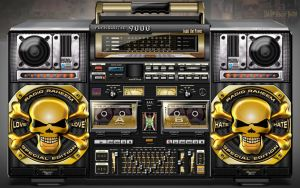Punkblaster 9000 Boombox by vectorgeek