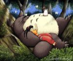 resting in the forest by MoonchildinTheSky