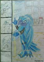 Rafl Hacko Eira Tocara The blue macaw by Halistablackgriffon