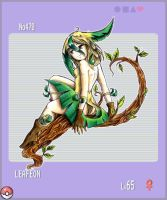 PKMN Gijinka Project +Leafeon+ by Ethevian